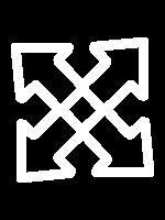 El icono que representa los servicios son unas flechas cruzadas
