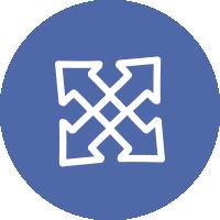 El icono que representa los servicios es un cruce de caminos