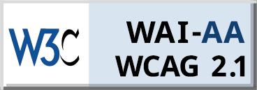 Logo W3C WAI-AA WCAG 2.1