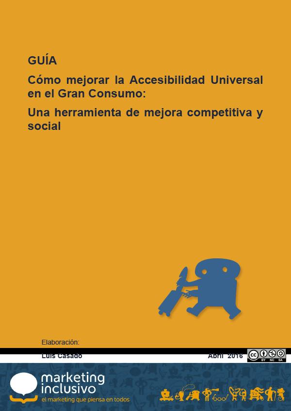 Portada de la guía de accesibilidad en el gran consumo